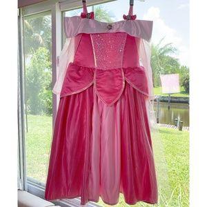 Disney Store Aurora Deluxe Dress Size 5/6 Flawless